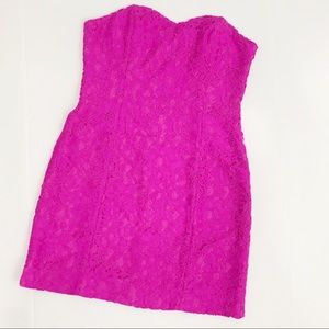 Lilly Pulitzer Demi Strapless Dress Pink Lace